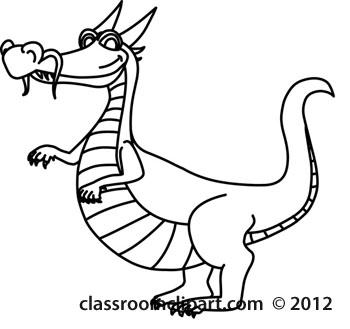 7+ Dragon Clipart Black And White.