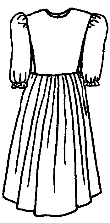 Clip Art Black And White Dress Clipart.