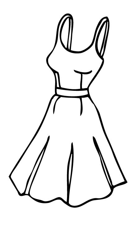 Dress Outline Clipart.