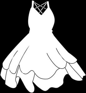 Dress Clip Art Black And White.