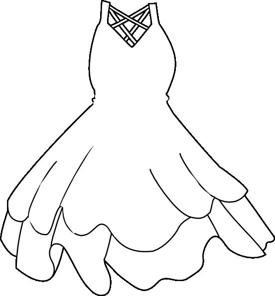 Clipart white dress.