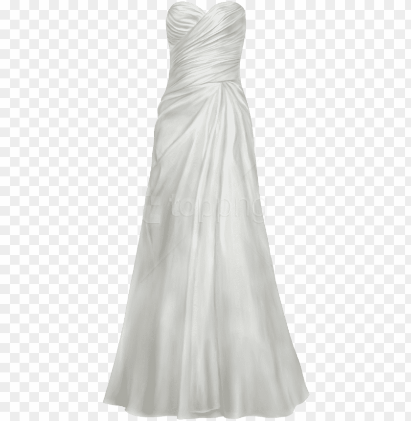 free png download satin wedding dress clipart png photo.