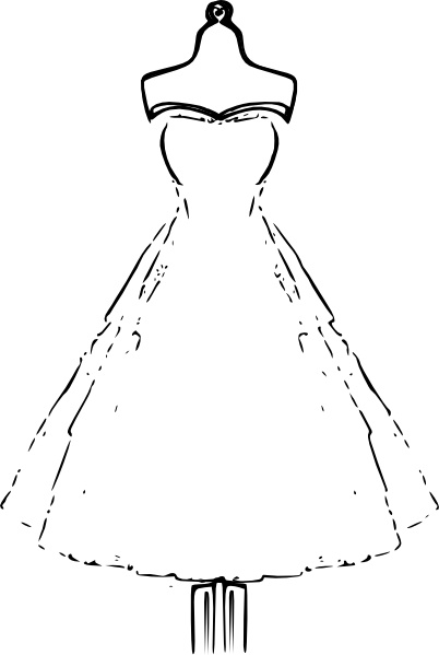 Dress clip art Free vector in Open office drawing svg ( .svg.