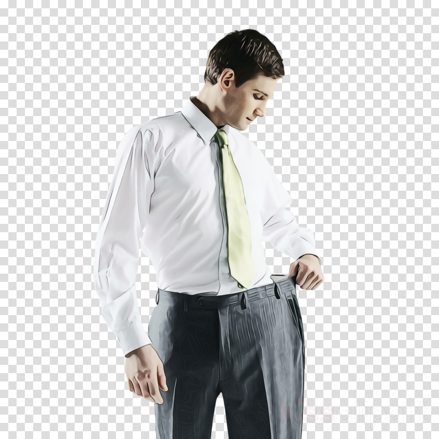 white dress shirt clothing formal wear suit clipart.