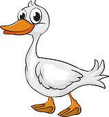 Black White And Duck Toy Clipart.