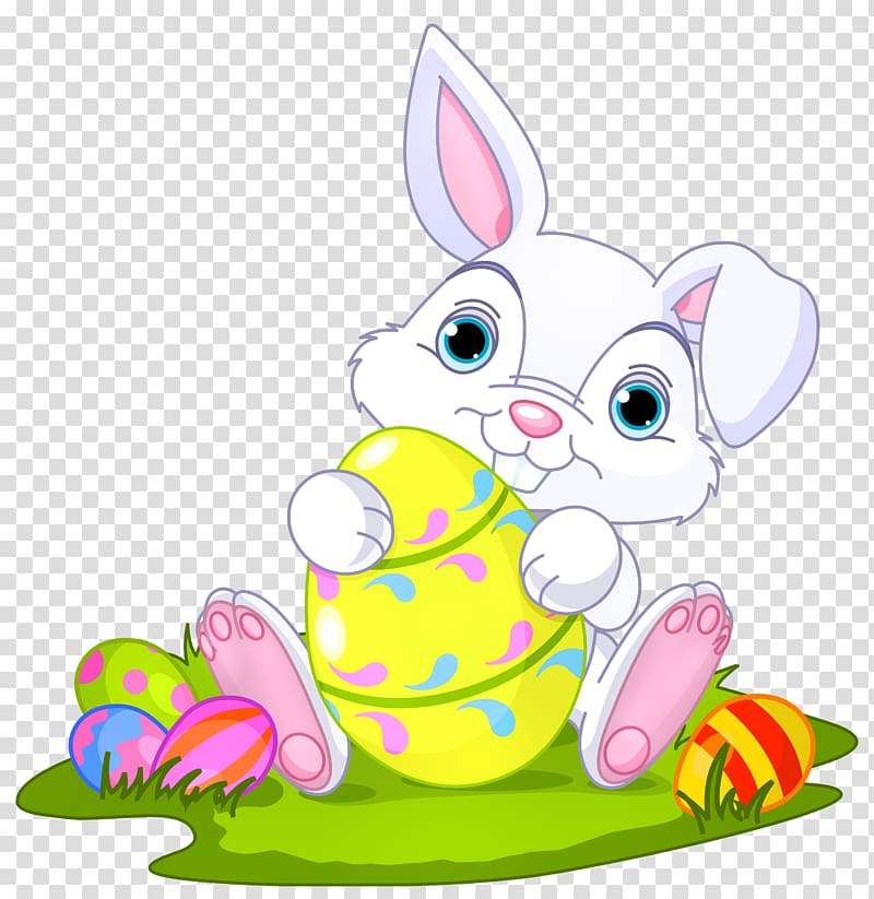 White Easter bunny illustration, Easter Bunny Domestic.