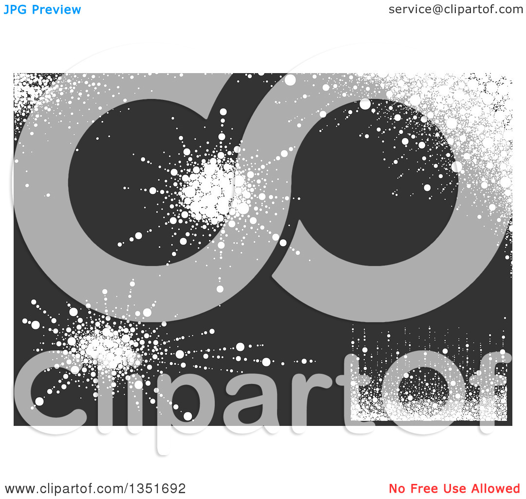 Clipart of White Snow Splatter, Edge and Background Design.