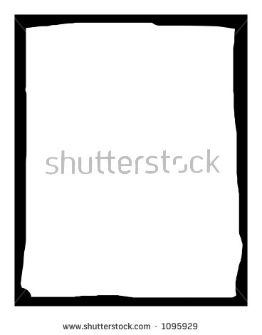 Bold Black Irregular Frame White Edge Stock Photo 1095929.