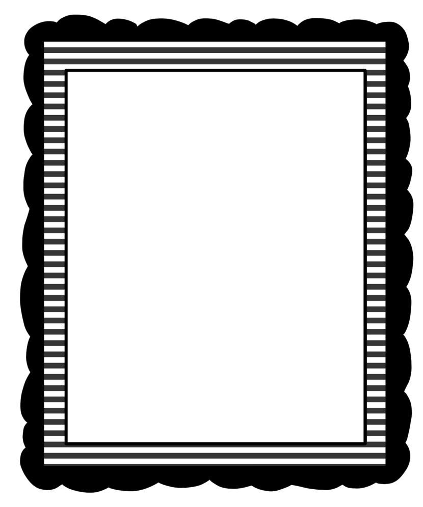 Black and white borders clipart.