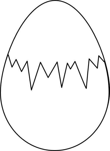 Easter Egg White With Fracture Clip Art at Clker.com.