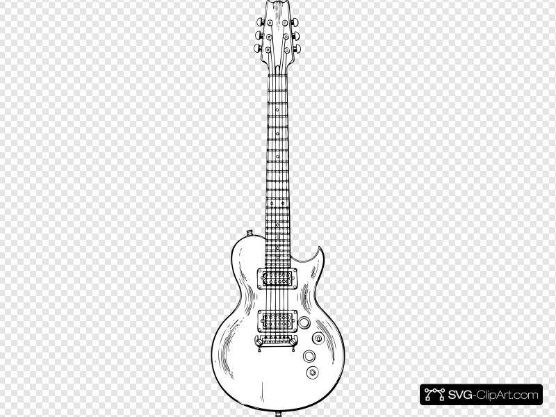 Electric Guitar Clip art, Icon and SVG.