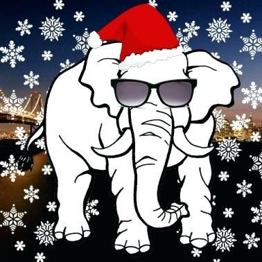 christmas elephant.