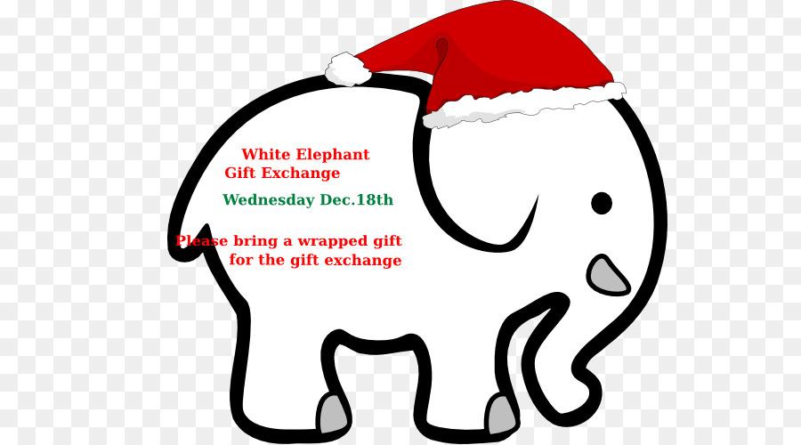 Christmas White Elephant Game clipart.