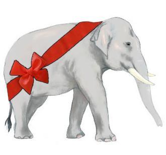 52+ White Elephant Christmas Clipart.