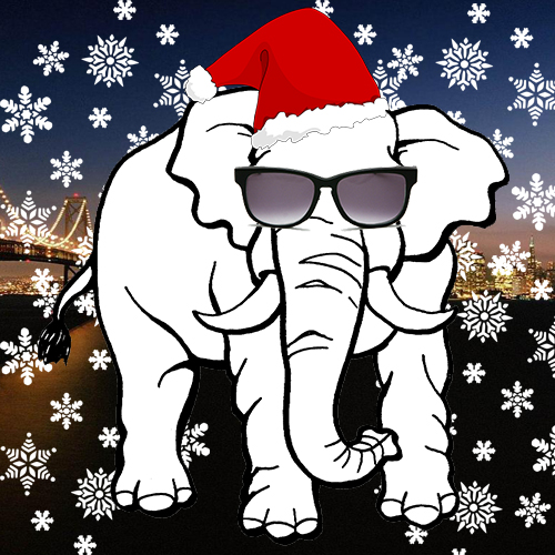 White Elephant Gift Exchange Clipart.