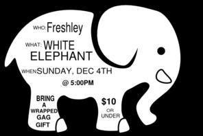 White Elephant Game Invite Sample Clip Art at Clker.com.