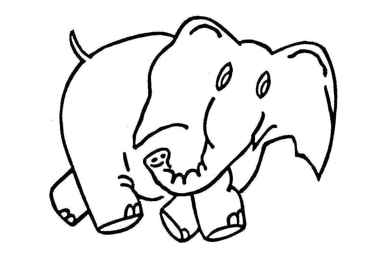 Elephant Drawings For Kids.