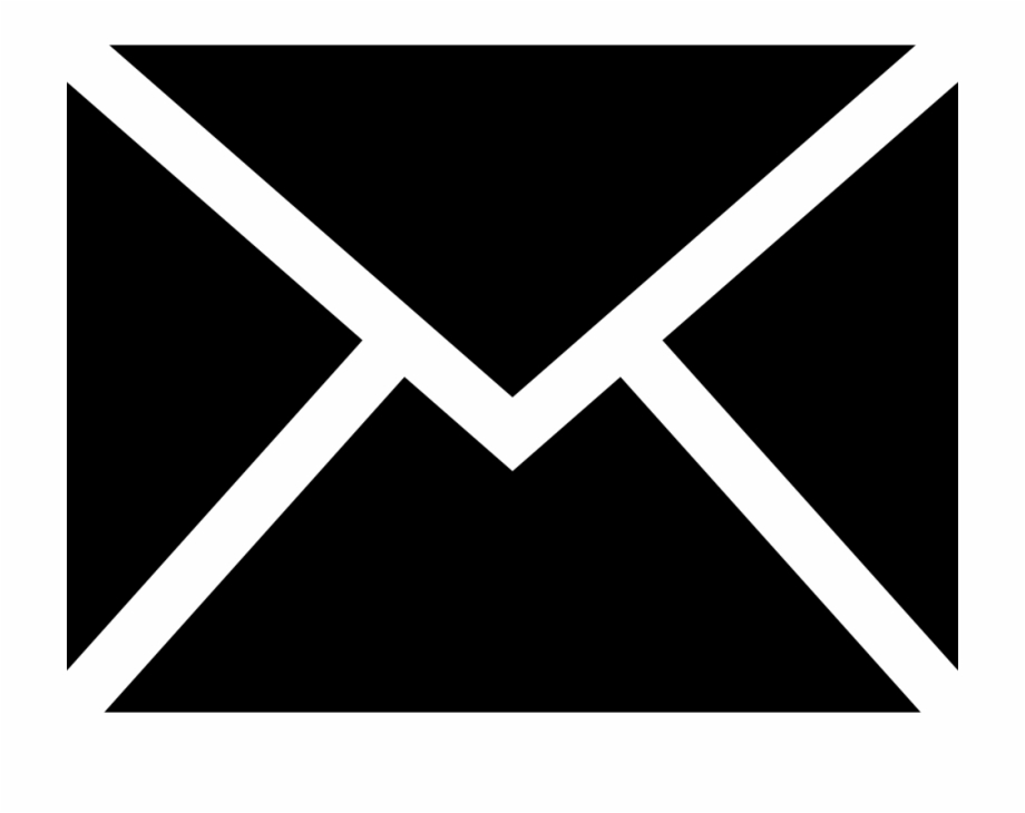 Black Email Icon Png Transparent Background.