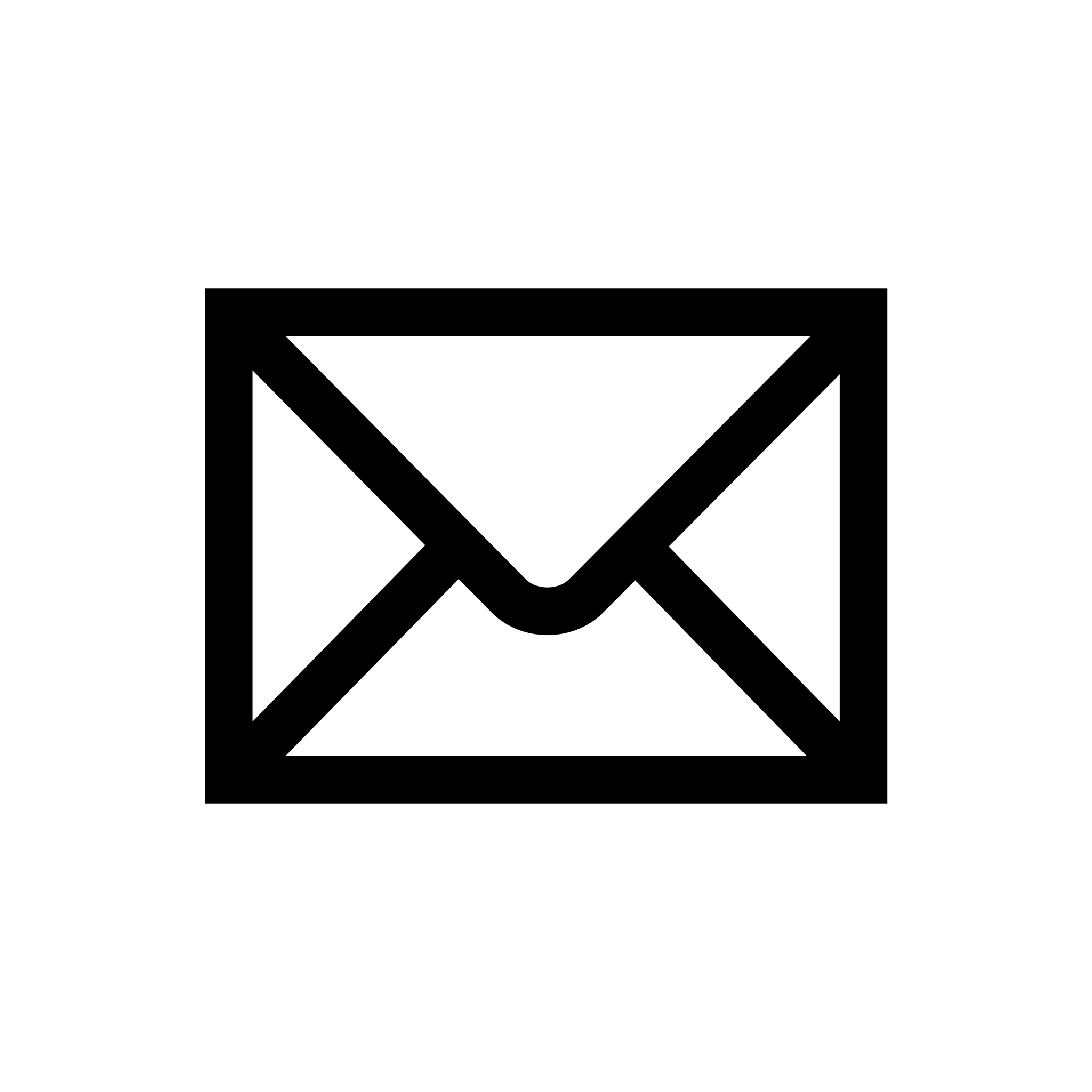 Email Icon Black Simple transparent PNG.