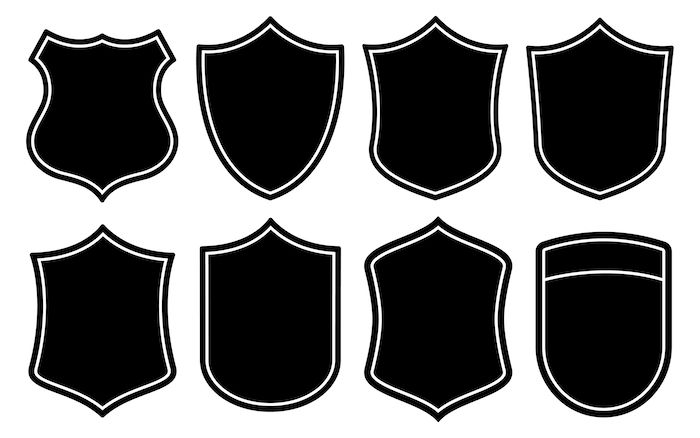 Badge Shape Vector Set: #badge #banner #black #blank.