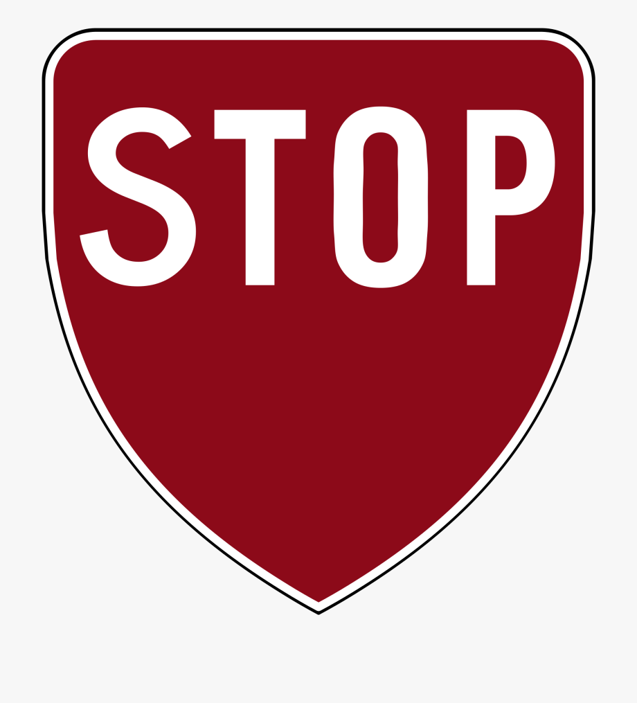 Banner Stock Black And White Stop Sign Clipart.