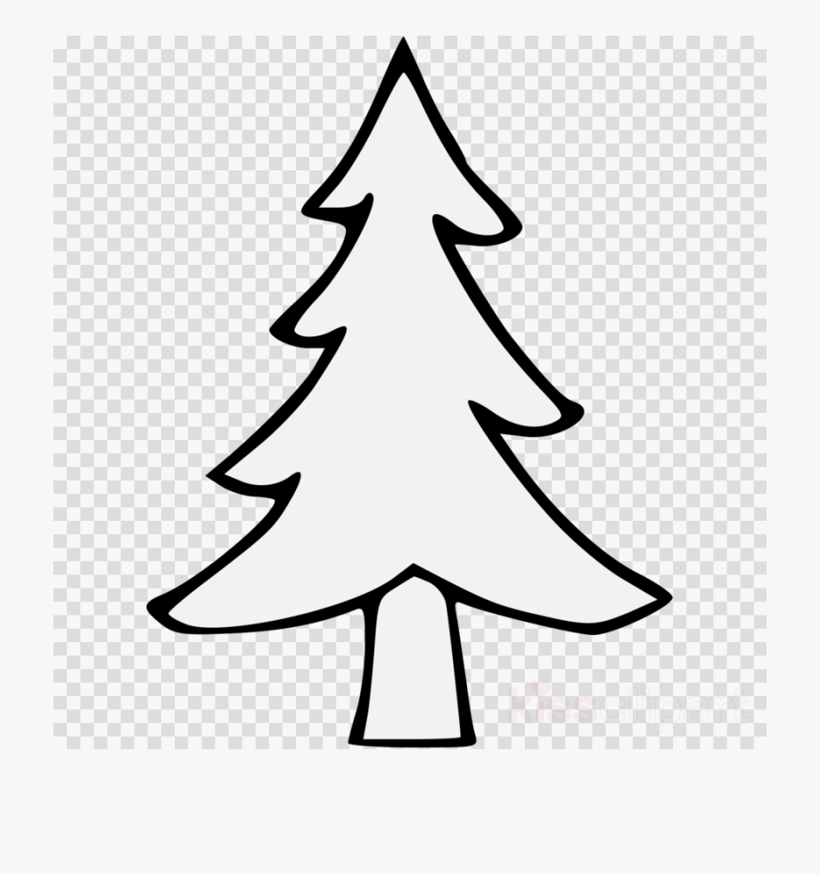 Tree Black And White Clipart Evergreen.