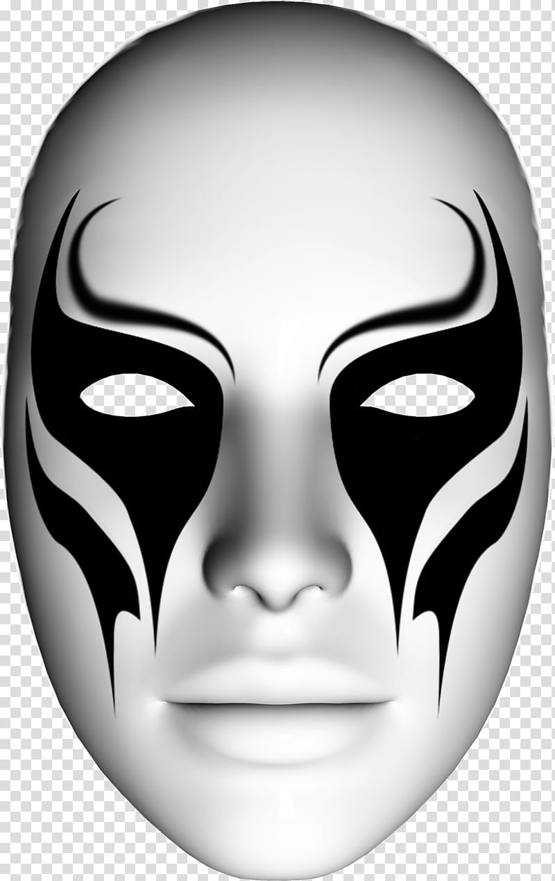 White and black face mask transparent background PNG clipart.
