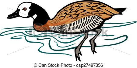 Clipart Vector of Whistling Duck.