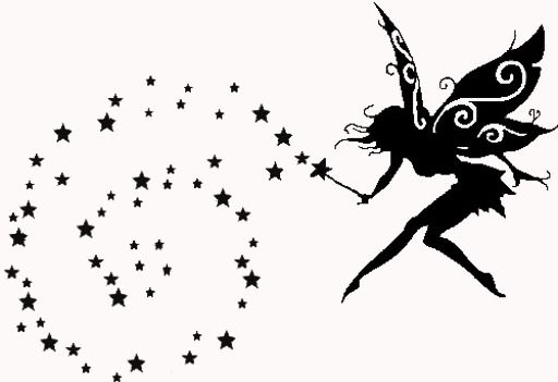 Fairy Clipart Black And White.