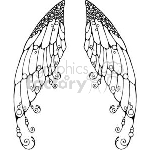 Fairy Wings clipart. Royalty.