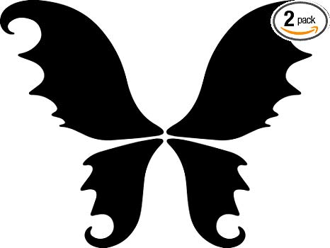 Amazon.com: ANGDEST Fairy Wings Silhouette Funny (Black.
