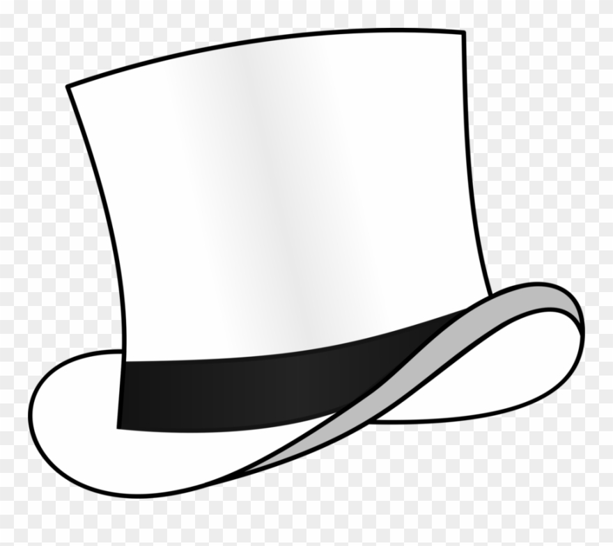 Top Hat Fedora Six Thinking Hats White.