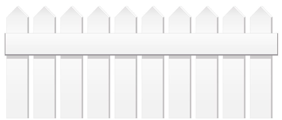 White Fence PNG Clipart.