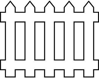 White fence clipart 2 » Clipart Portal.