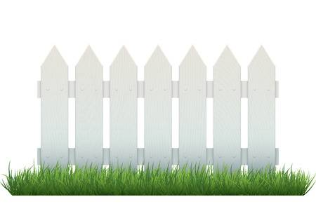 1,542 White Picket Fence Cliparts, Stock Vector And Royalty Free.