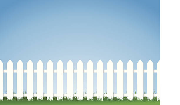 Best Picket Fence Illustrations, Royalty.