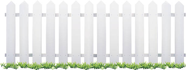 White Fence Clipart.