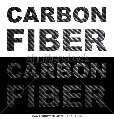 Carbon Fiber Clip Art Words With Texture Isolated Over Black And.