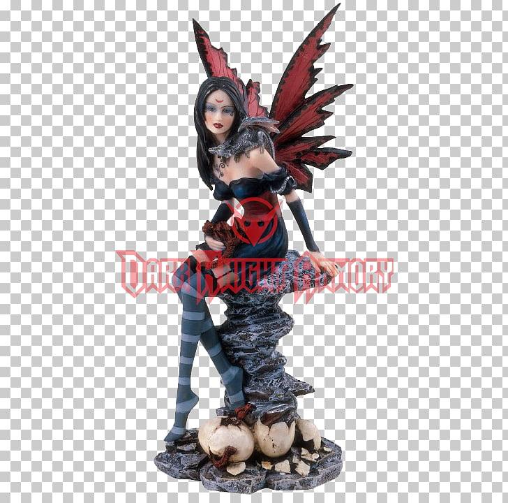 Figurine Statue White dragon Fairy, dragon PNG clipart.