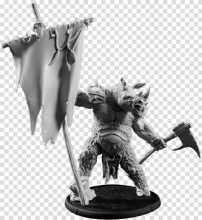 Figurine White Legendary creature, Strength Of The Bear.