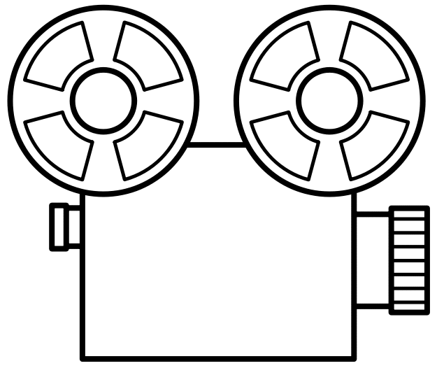 Film Camera Clipart Black And White Car Pictures.