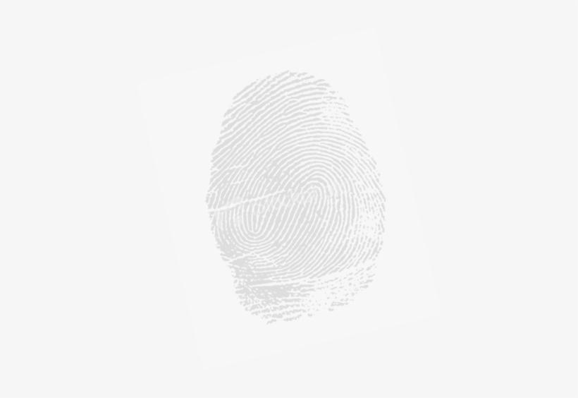 White Fingerprint Png.
