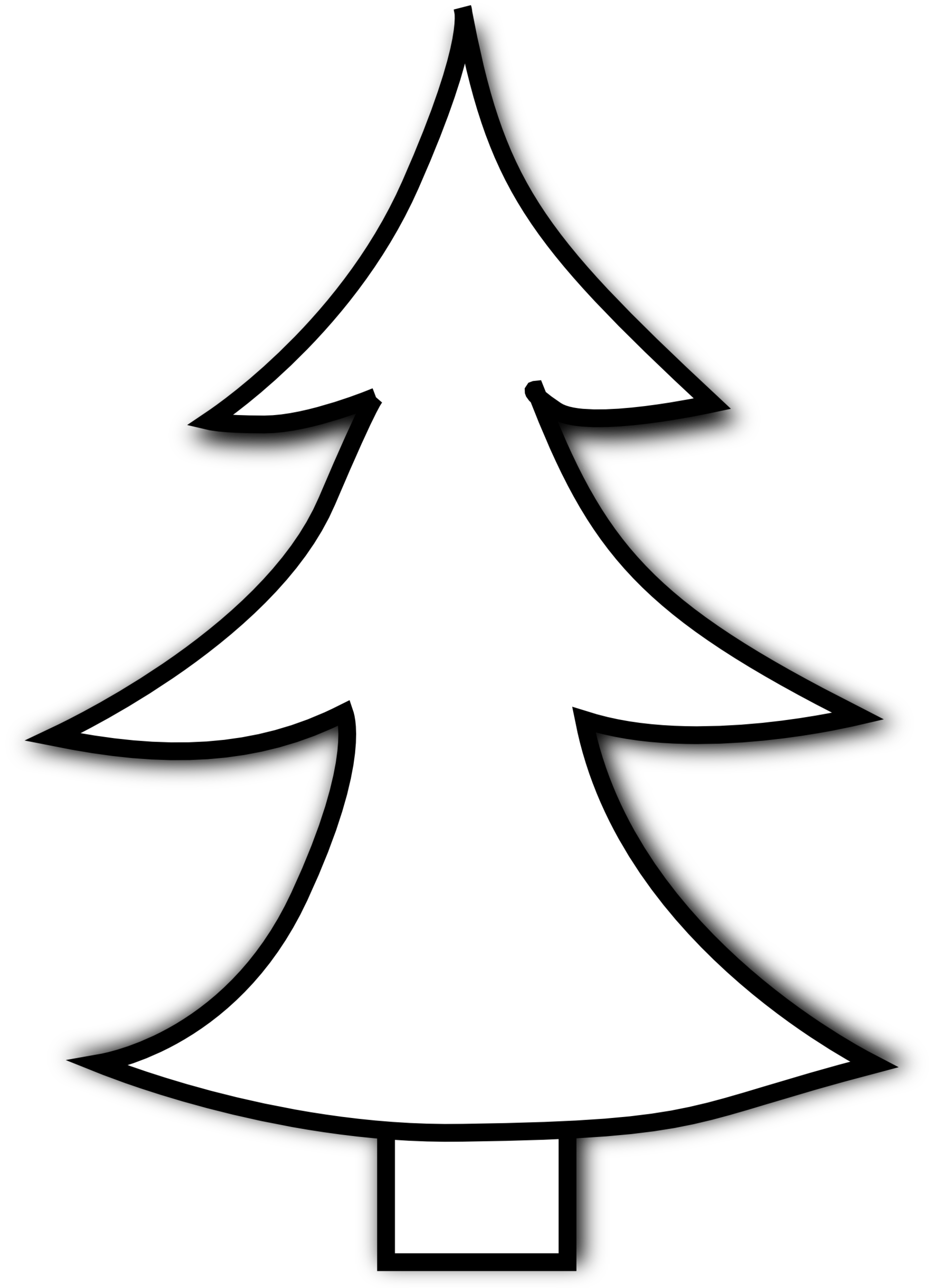 Fir Tree Clipart Black And White.