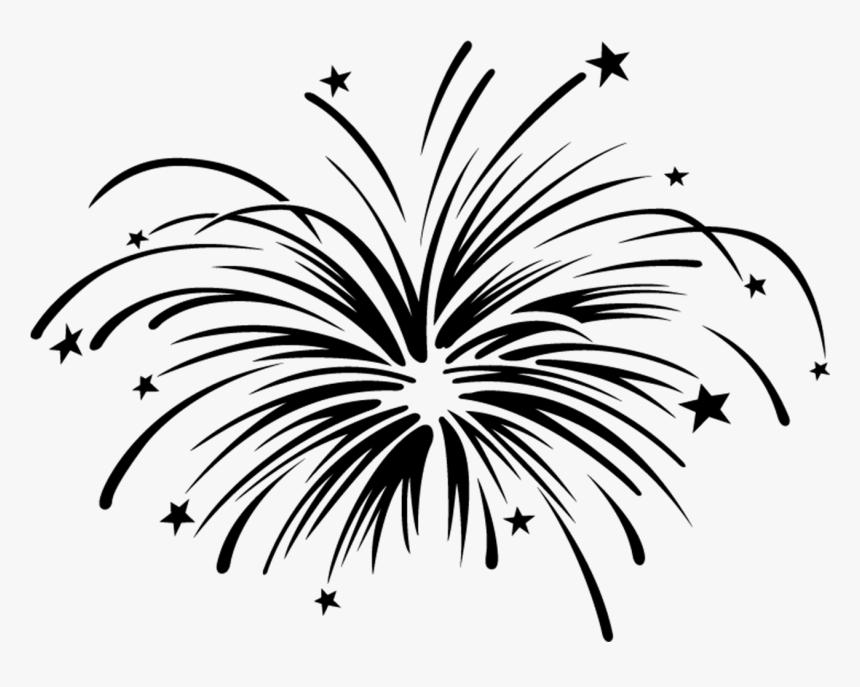 Fireworks Black And White Clip Art.