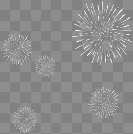 White Fireworks PNG Images.
