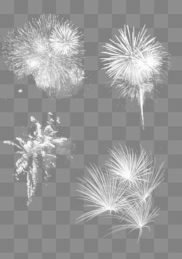 2019 的 Four White Fireworks, Fireworks Clipart, Light Fireworks.