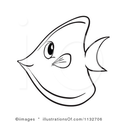 Black and white fish clip art.