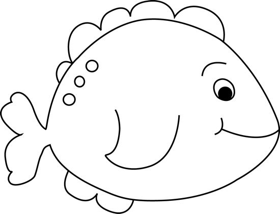Fish Clipart Black And White & Fish Black And White Clip Art.