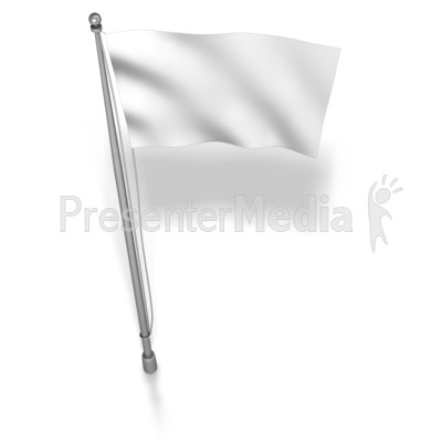 White Flag On Flag Pole.