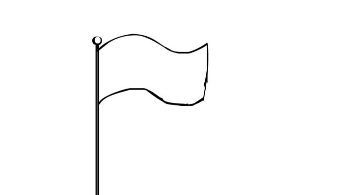 GIF Images of a White Flag. Surrender Beautifully, Download.